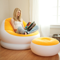 inflatable pvc pile coating sofa/inflatable furniture for family