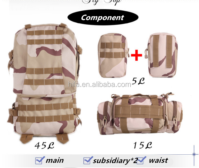 Military outdoors backpack Tactical army backpack