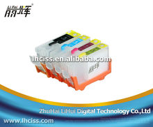 LIFEI compatible 4 colors(PGI-5/CLI-8 )refillable ink cartridge with reset chip for canon PGI-5/CLI-8
