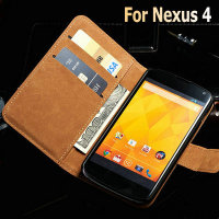 Alibaba best sellers high quality bright white phone case for LG Nexus 4 4.7 inch genuine leather case