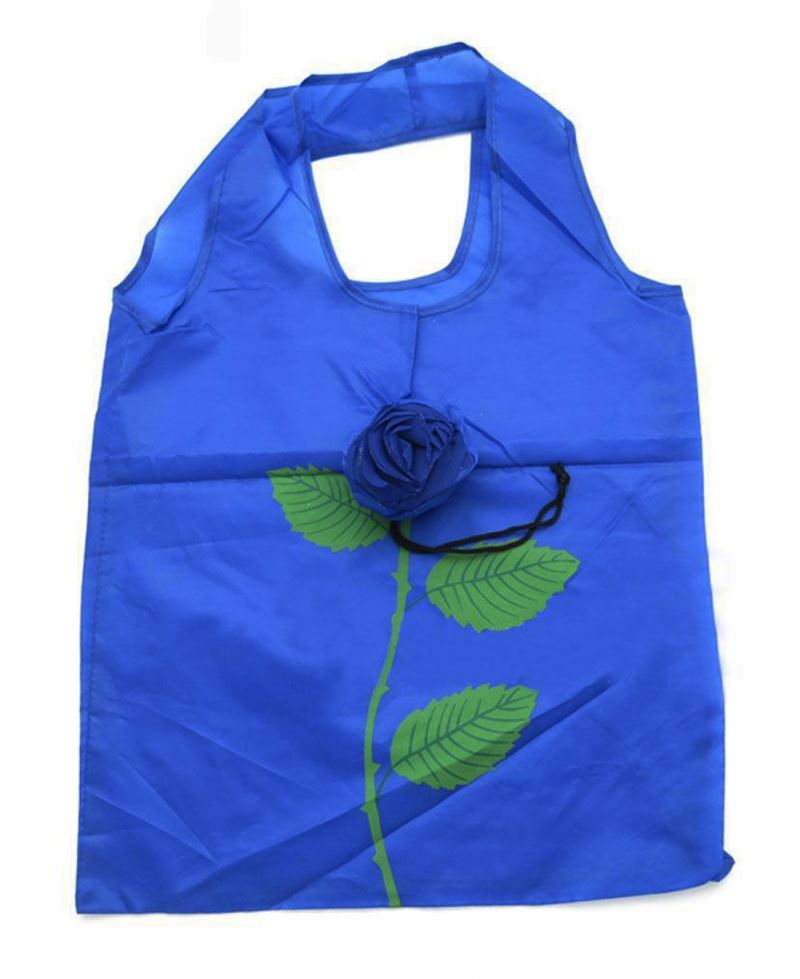 Rose Flower Shape Folding Shopping Bag