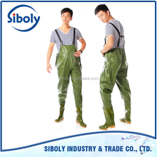 waterproof cheap custom made pvc chest high fishing waders used as fishing equipment