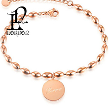 Jewelry Accessories Rose Gold Plated Stainless Steel Bracelet For Women