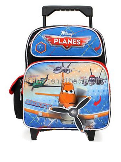 "12"" Small School Roller Backpack Trolley Bag -3D Swivel Propeller"
