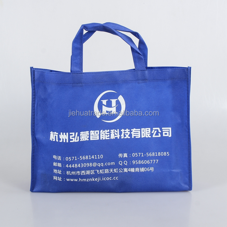 Cheap Custom Printed Luxury retail navy non woven material shopping bag