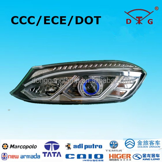 Oem manufacturer 24v black led bus head light