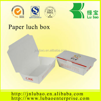 Paper food box with raw material food paper