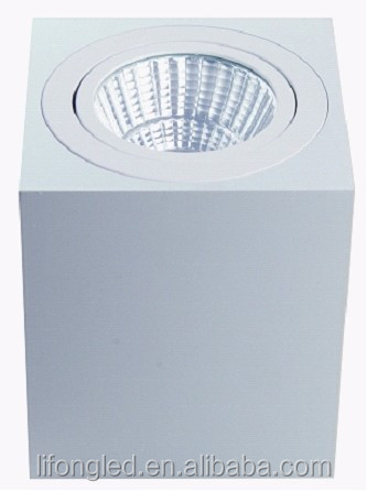 High quality adjustable 10w COB Surface mounted square downlight led