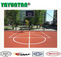 High Elastic Long Time Use Silicon PU material basketball court flooring outdoor