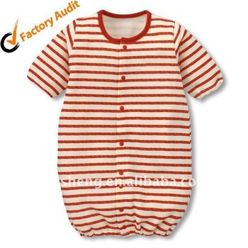 lovely knitted stripe baby rompers gown converter