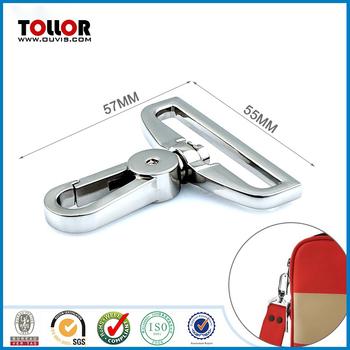 Shiny Nickel Metal Swivel Snap Hook for handbag