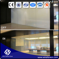 Electric privacy film, smart self adhesive switchable glass