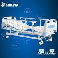 Wholesale cheap price hospital equipment economy manual two crank hi-lo bed for hospital