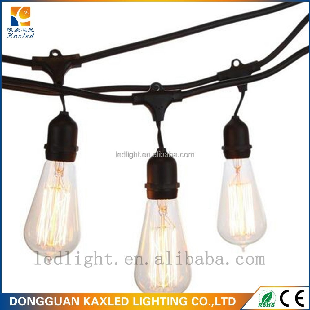 Outdoor Party light string Commercial LED Belt string festoon led decoration lamps for holiday Christmas