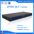 1U 19 inch FTTH FTTB 2 PON Ports 2 SFP GEPON OLT with 1:64 Splitting Ratio Supported 128 ONUs Fully Compatible