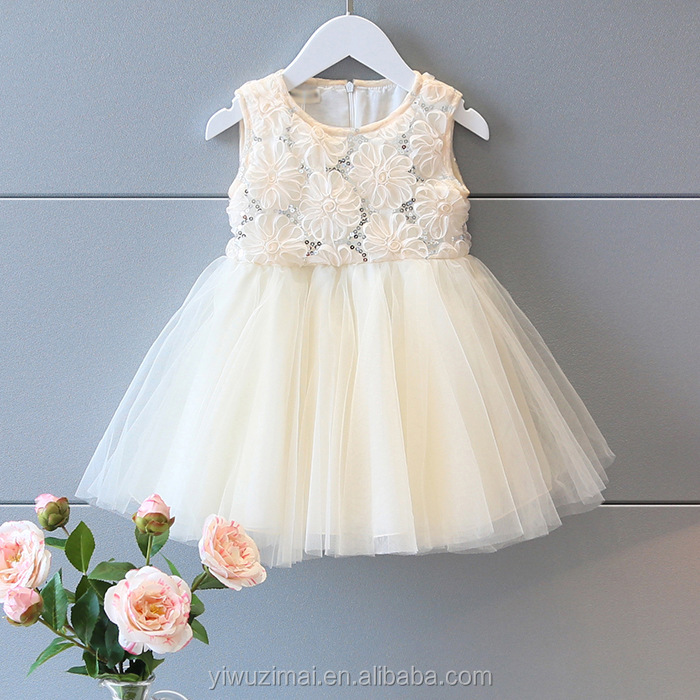 Pretty Baby Girl Rose Flower Sequins Princess TUTU Dress Kids Girls Birthday Party Dresses
