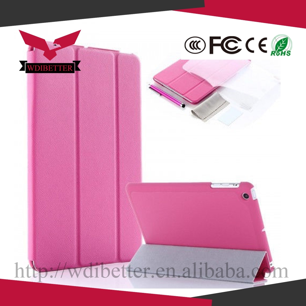2014 Newest Smart Tablet Leather Case Cover for Ipad 6 Ice Silk Best Quality Case for Ipad Air 2