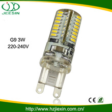 high quality 3w silicone led Lampara g9