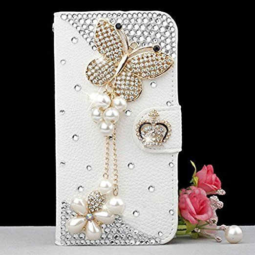 DIY Crystal Rhinestone Wallet PU Leather Purse Flip Card Pouch Stand Cover Case For SamsungS3 S4 S5 S6E S7E S8P N3 cases shell
