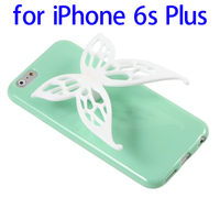 Cute 3D Butterfly Soft TPU Case for iPhone 6s Plus with Earphone Winder