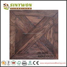 PH-0297 Rustic design walnut stained parquet wood flooring