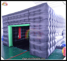 black structure inflatable marquee , inflatable event cube buildin , inflatable cube bubble tent