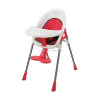 2016 good selling baby booster kids dining high chair with safety seat pad