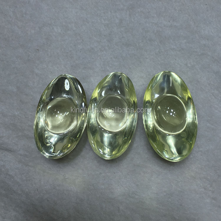 Natural clear quartz citrine crystal stone shoe-shaped gold ingot