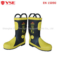 Plate Pierce Resistance 1000N Rubber Safety Fire Boots