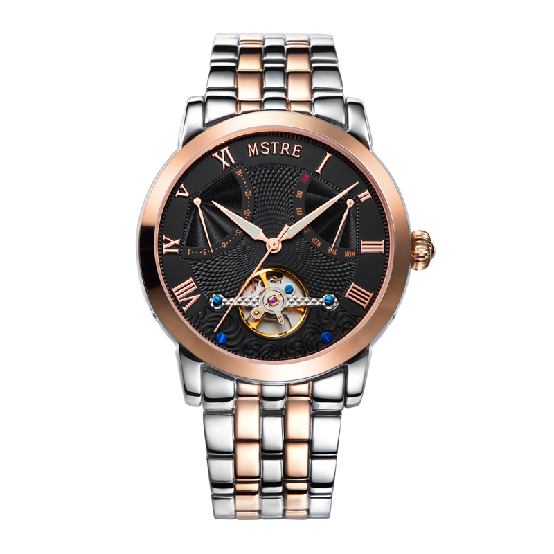 2016 popular design 316L stainless steel 3ATM automatic mens wrist watch,custom watch