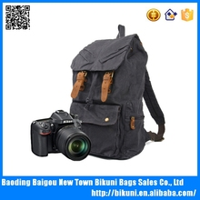 High quality bestseller outdoor fashion canvas backpack hiking travelling camera backpack from China