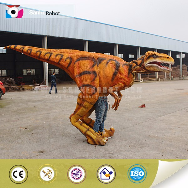 Sanhe Robot funny mascot walking with realistic velociraptor costume for Adult
