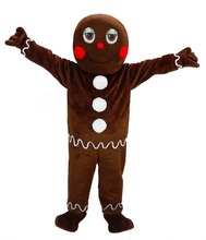 2016 mascot cartoon character fancy party dress,new arrival adult Christmas gingerbread man mascot costume