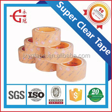 2017 China factory wholesale custom high quality super clear opp packing tape