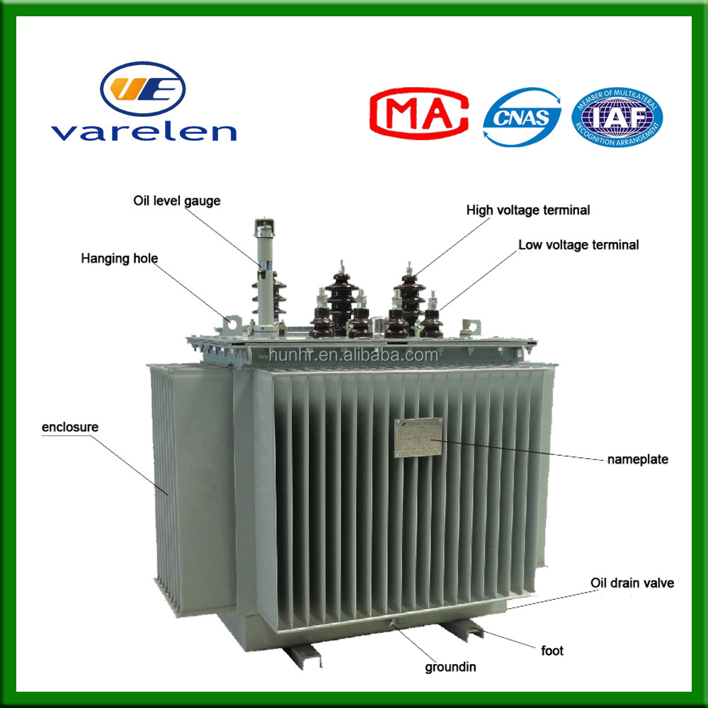 66kv three phase oil immersed electrical transformer