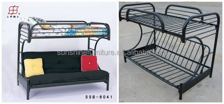 China factory cheap metal sofa bed double deck bed view for Double deck bed for sale