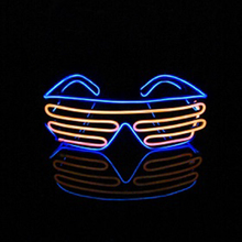 China wholesale professional waterproof el wire shutter neon el flashing led party glasses