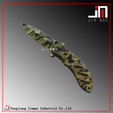 Strong Point Flipper Knife Military Knife with Camo Coated Handle