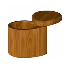 Todally Bamboo Small Salt Box, Bamboo Container With Magnetic Lid For Secure Storage