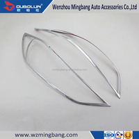 Exterior Car Accessories ABS Chrome Headlight Cover For Hyundai Elantra 2016 Avante 2015