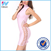 2016 New Female Girls Black to Green Pink Luxury High Neck Bodycon Bandage Sexy Night Dress Photos