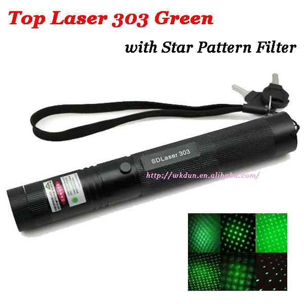 Gift Adjustable focal length 200mw green laser pointer