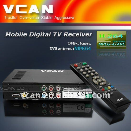 DVB-T with MPEG4 H.264 HE-AAC