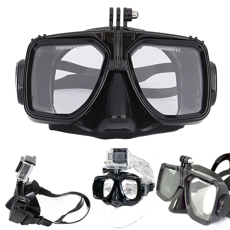 2016 Diving Equipment Camera Mount Silicone Diving Mask Scuba Snorkel Swimming For GoPro Hero 2 3 3+ 4 for Sports Camera