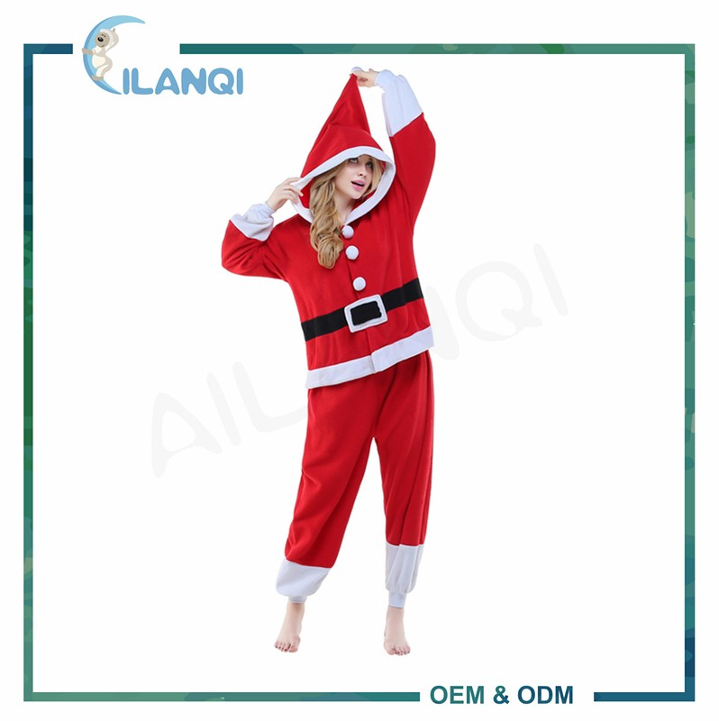 ALQ-A031 Matching family 100% polyester wholesale christmas pajamas