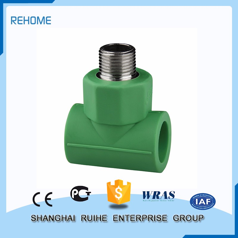 Famous Brand Low price Male Threaded Tee ppr pipe fitting cpvc fittings