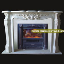 carolina victorian hand carved white marble marble fireplace mantle