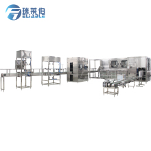 Automatic 5 Gallon Barrel Drinking Water Production Line Jar of water making machine