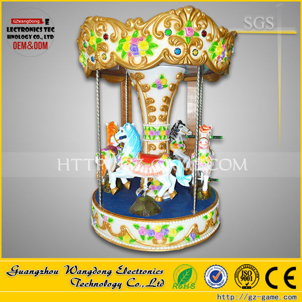 Theme park rides electric merry-go-round, theme park games for sale, coin operated carousels for sale