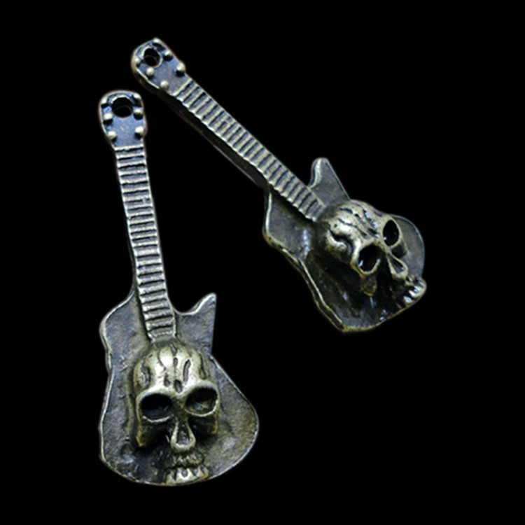 Decorating Ideas, Cool Guitar Skull Design Metal Arts and Crafts